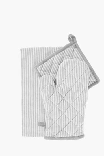 3 Pack Stripe Linen Set