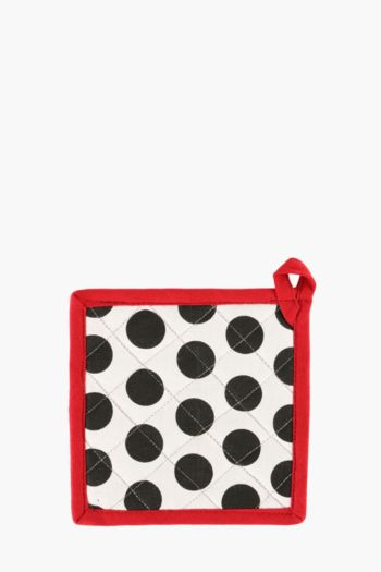 100% Cotton French Polka Dot Pot Holder