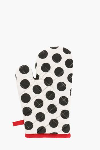 French Polka Dot Single Oven Glove