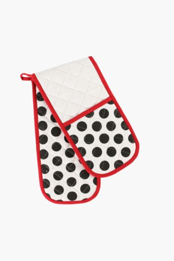French Polka Dot Double Oven Glove