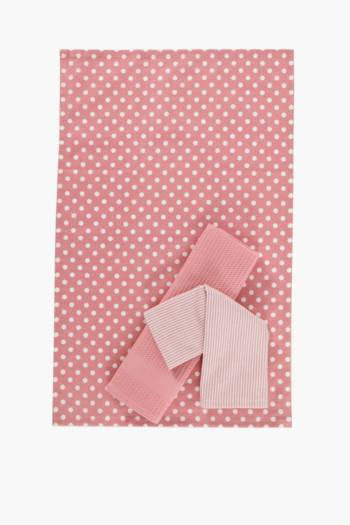 100% Cotton Polka Dot Tea Towels