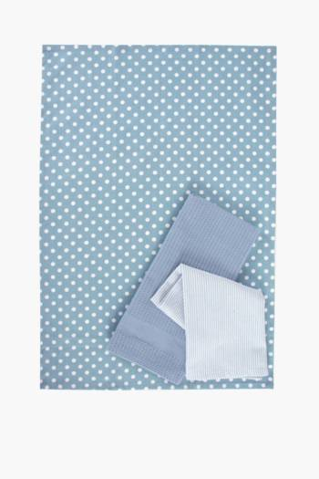 3 Pack Polka Dot Tea Towels
