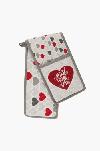 100% Cotton Love Double Oven Glove