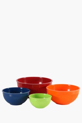 4 Plastic Mixing Bowls