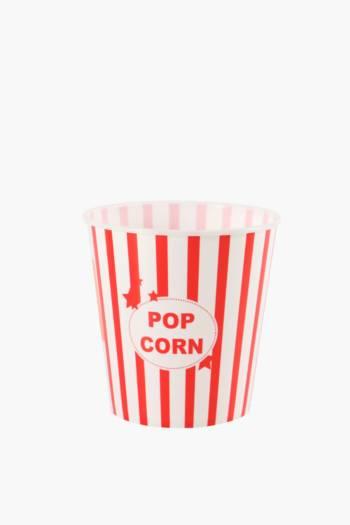Plastic Popcorn Bowl, Medium