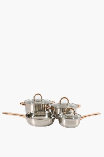 7 Piece Stainless Steel Pot Set