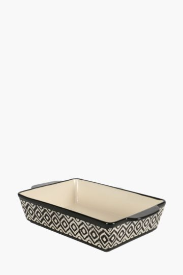 Ceramic Geometric Roasting Dish, Medium