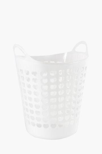 Plastic Heart Laundry Basket, 45 litres