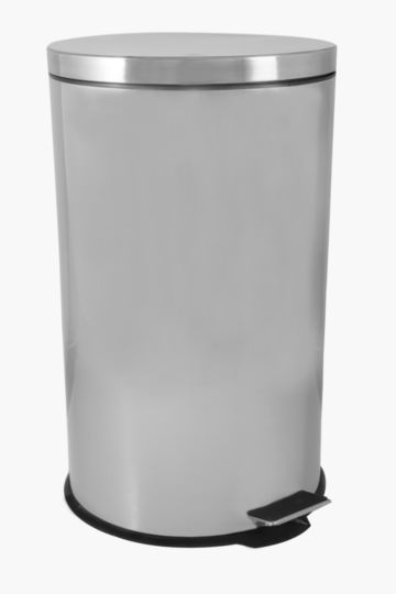 Stainless Steel Round Step Dustbin, 30l
