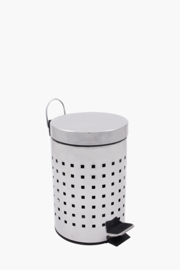 Stainless Steel Round Step Dustbin, 3l