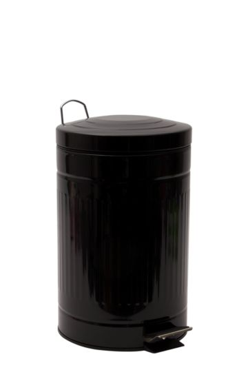 12l Ribbed Pedal Dustbin