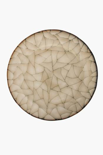 Crackle Ethnic Dinner Plate
