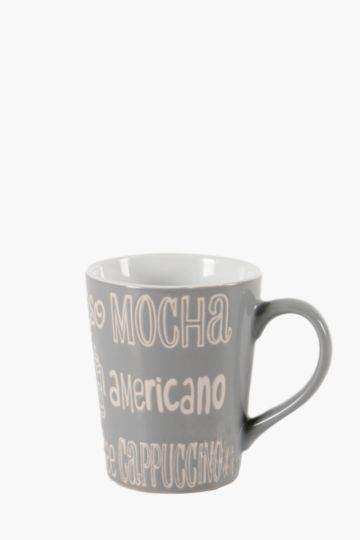 Stoneware Script Mug