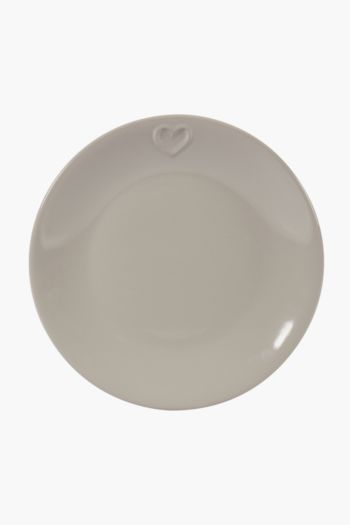 Stoneware Etched Dinner Plate
