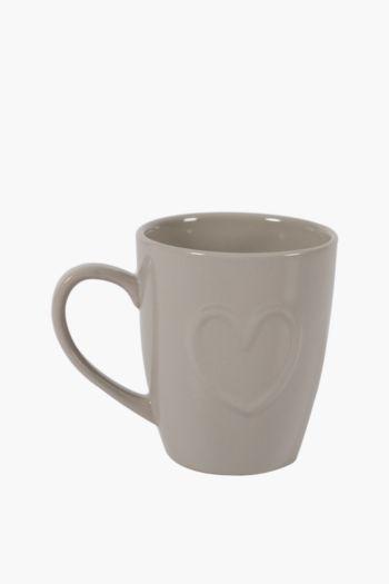 Stoneware Etched Mug