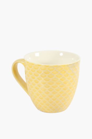 Porcelain Embossed Mug