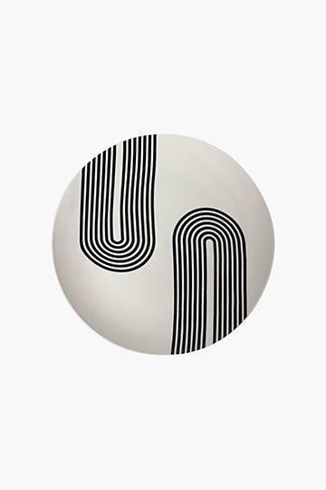 Porcelain Geo Decal Dinner Plate