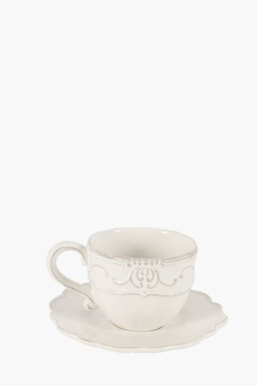 Scallop Scroll Cup And Saucer Set