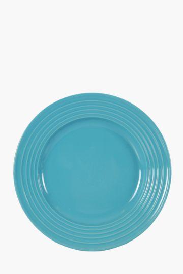 Memphis Glaze Stoneware Dinner Plate
