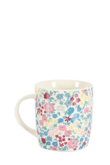 Floral Decal Mug