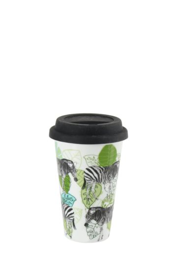 Porcelain Zebra Travel Mug