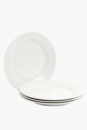 4 Pack Porcelain Dinner Plates