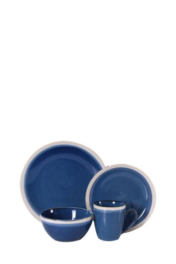 Stoneware 16 Piece Two Tone Dinner Set