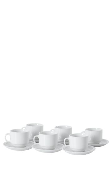 12 Piece Caterware Cups And Saucers
