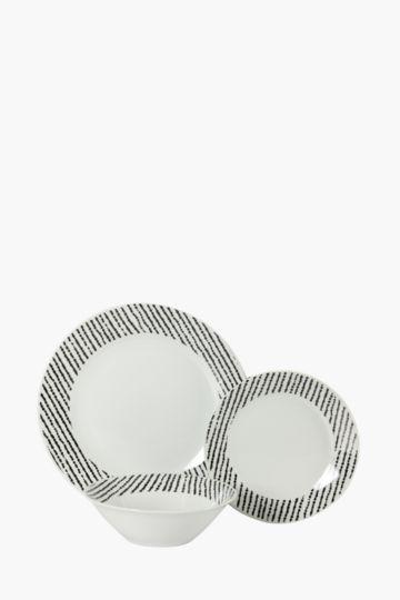 12 Piece Porcelain Abstract Dinner Set
