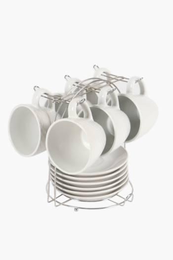 13 Piece Scallop Tea Set