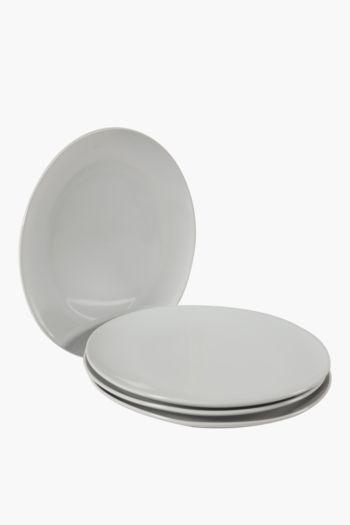 4 Pack Stoneware Dinner Plates