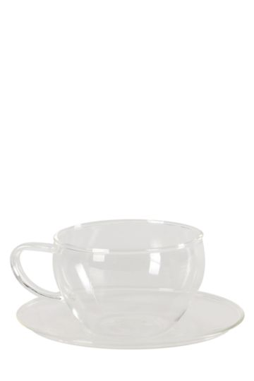 Classic Glass Cup And Saucer