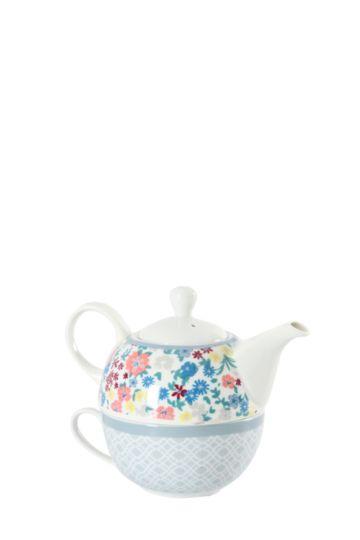 Floral Tea Set For One