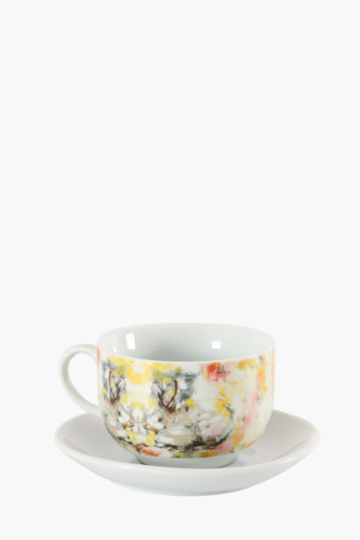 Floral Bunny Cup And Saucer