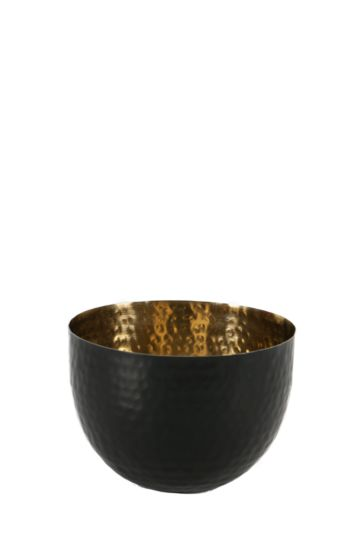 Two Tone Beaten Metal Bowl