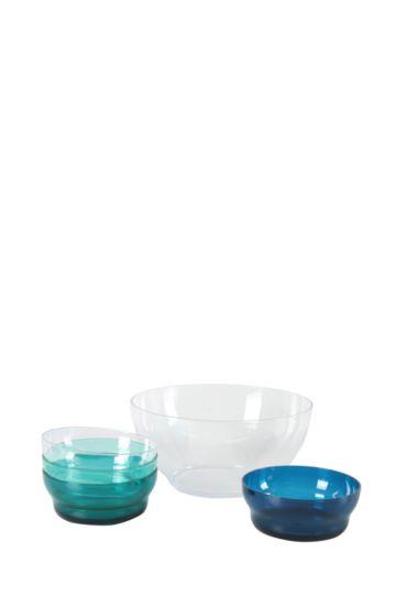 5 Piece Plastic Bowl Set