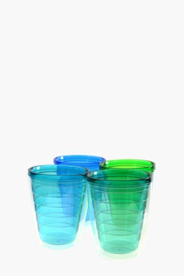 4 Pack Double Walled Oceana Tumblers