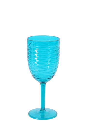 Diamond Swirl Wine Glass