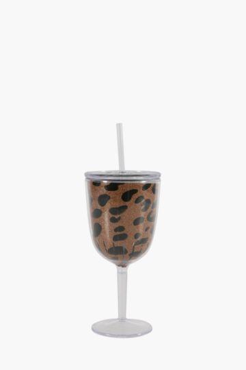 Marbleous Plastic Wine Glass