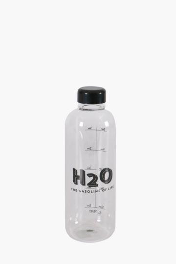 Glass Script Water Bottle