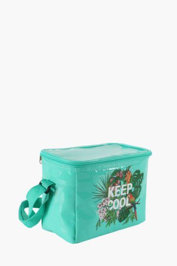 Tropical Script Cooler Bag, Small