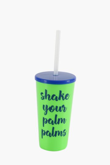 Tropical Script Sippy Cup