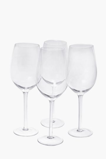 4 Pack Red Wine Glasses