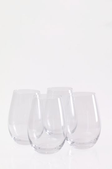 4 Pack Augusta Stemless Wine Glasses