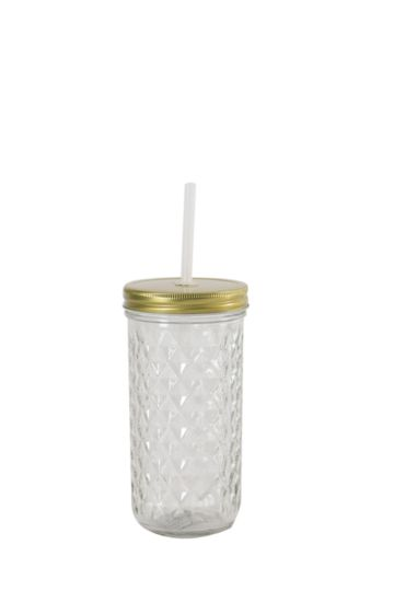 Facet Diamond Glass Sippy Cup
