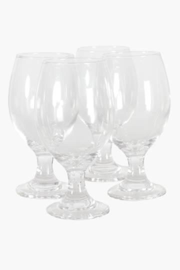 4 Pack Water Stem Glasses