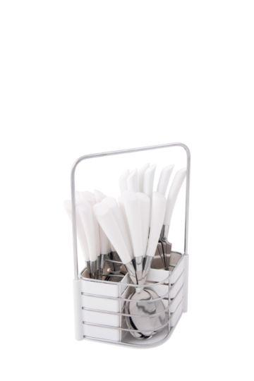 24 Piece Stainless Steel Wedge Cut Cutlery Set