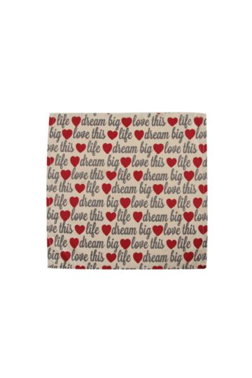 100% Cotton Love Life Napkin