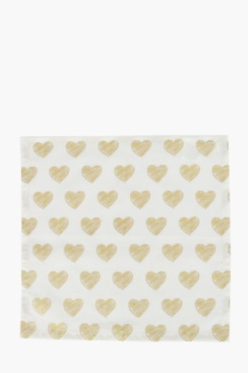 100% Cotton Sketch Heart Napkin