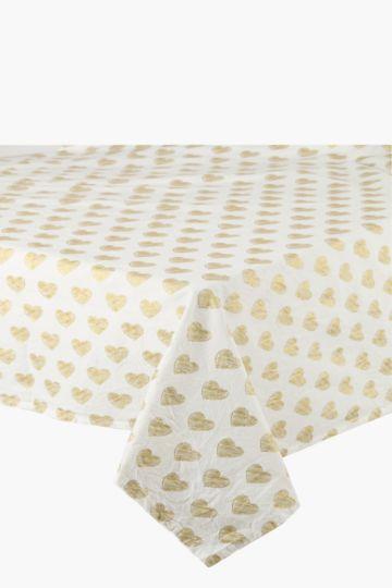 Sketch Heart 135x230cm Tablecloth